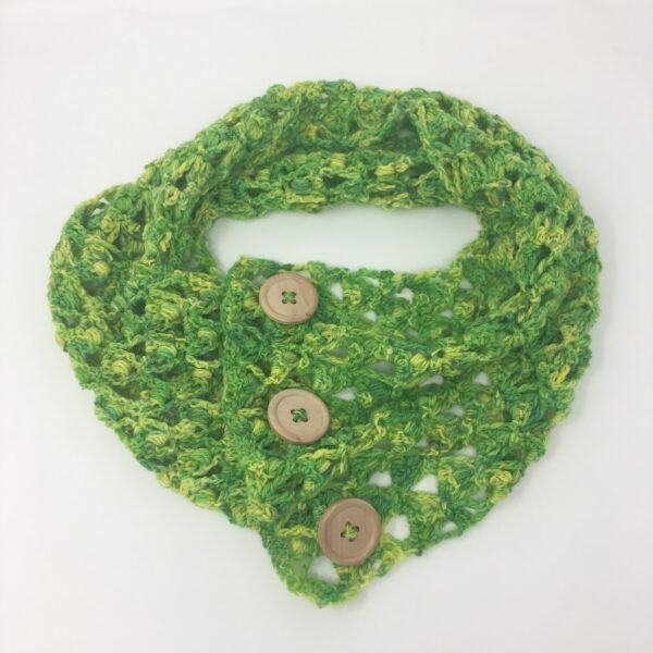 Green Cowl Scarf ASC-1004