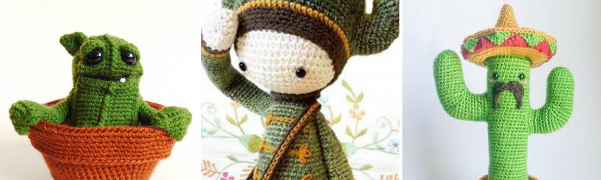 Amigurumi cactus crochet patterns