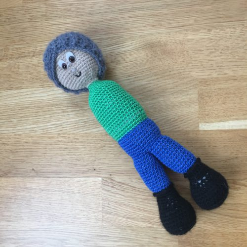 Boy crochet doll